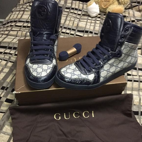 99f64e68f70 Gucci Other - Gucci GG Supreme Canvas Caiman Alligator High Tops